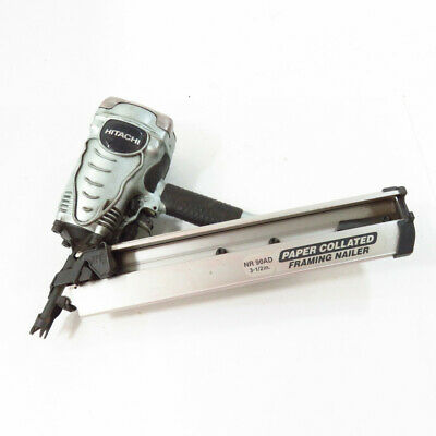 """Hitachi NR 90AD(S) 3-1/2"""" Pneumatic Paper Collated Framing Strip Nailer"""