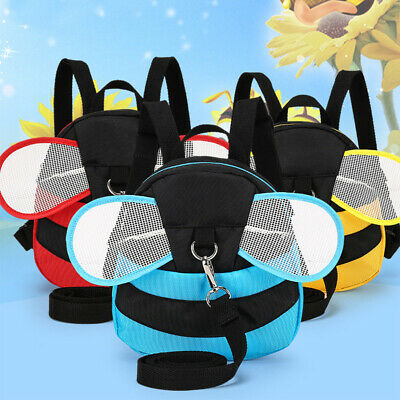Cartoon With Harness Kids School Bag Safety Anti-lost Cute Bee Toddler Backpack