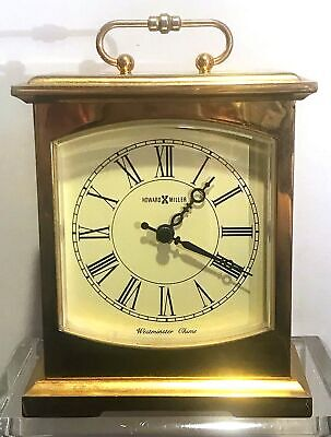 Vintage Howard Miller Westminster Chime Brass Clock Excellent Working Condition