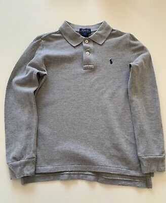 boys long sleeved grey ralph lauren polo age 6 great condition