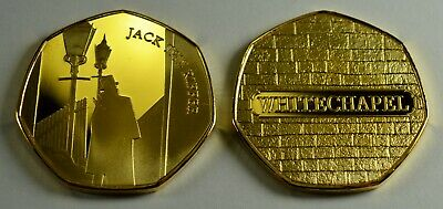 JACK THE RIPPER 24ct Gold Commemorative Coin Albums/50p Collectors. Whitechapel