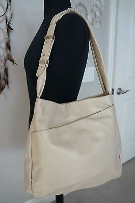 dd2fa86e0f NEW Halston Heritage Pale Gold Folds Hobo Hand Bag TONS OF COMPARTMENTS SRP   475