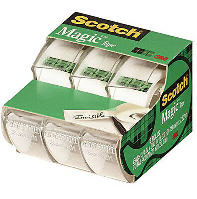 "SCOTCH - Magic Transparent Tape 3/4"" x 300"" - 3 Pack"