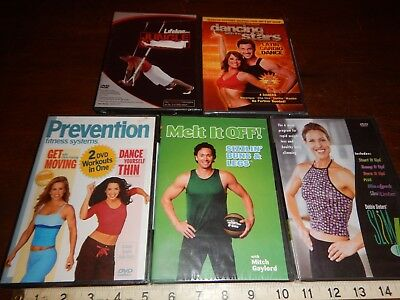 Exercise Dancing with the stars Slim DVD Movies Lot of 5 dvds Movie New & Sealed
