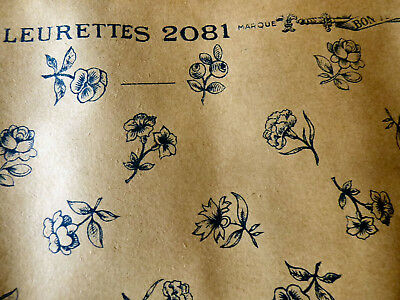 """Antique Lovely 19th C. French Floral Wallpaper 200"""""""