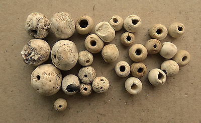 Good Viking Stone Ceramic Beads Set 8-10 AD Kievan Rus