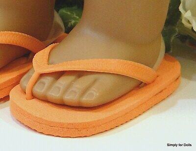 "ORANGE Flip-Flops DOLL SANDALS SHOES fit 18"" AMERICAN GIRL Doll Clothes"