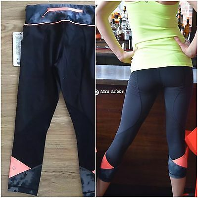 2a9f01991edbc3 LULULEMON PACE RIVAL Crop Tights. Size 4. Brand New With Tags ...