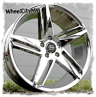 """20 x8.5"""" chrome Blade 407 wheels fits Cadillac ATS DTS STS DeVille 4x NEW rims"""