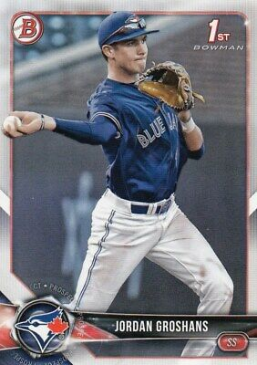 Lot of (25) 2018 Bowman Draft JORDAN GROSHANS Rookie Card BD-56 Blue Jays