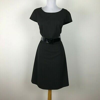 91314ddc30d8 Antonio Melani Dress Size 8 Solid Black Sheath Cap Sleeves Career Work  Womens