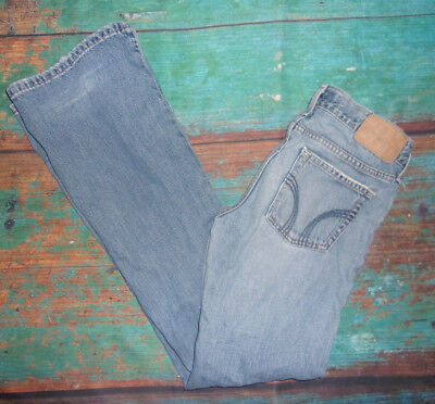 Button Fly WOMENS SIZE 3 (29x30) HOLLISTER DENIM Blue JEANS