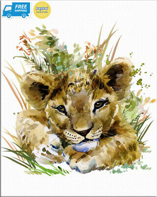 """7Dots Art. Cute Baby Animals. Watercolor Art Print, Poster 8""""x10"""" on Fine..."""
