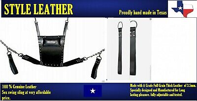 New Brand Genuine Heavy Duty Leather Sex Swing / Sling Adult Play Room Fun (SW2)