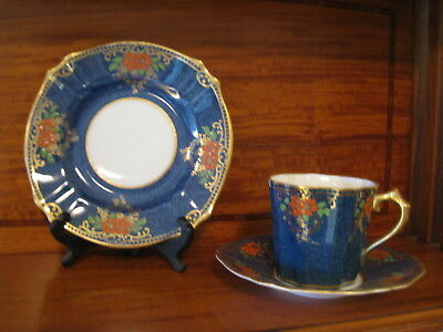 "Antique Bone China Tea Cup, Saucer and Plate, ""Collingwood England Est 1780"""