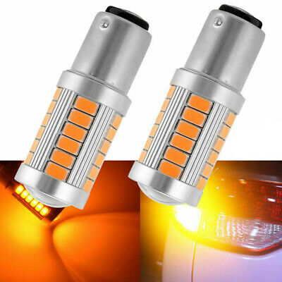 2pcs BAY15D 1157 5630 33 SMD LED Bulb Auto Car Backup Reverse Light Lamp Yellow