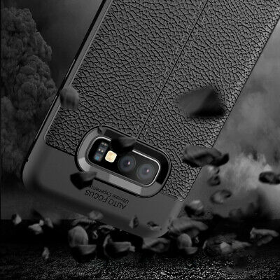 Shock Absorbing Soft TPU Leather Back Case Protective For Samsung Galaxy S10