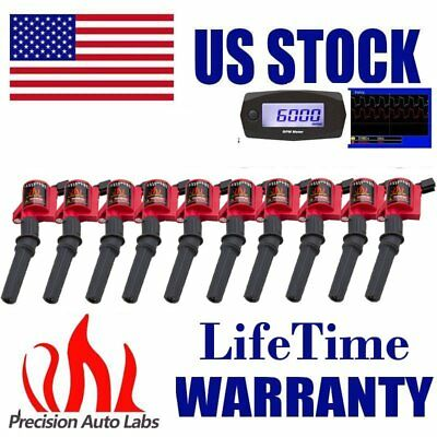 10 Ignition Coils Pack Fit Ford 1997~2003 F-150 4.6/5.4L Lincoln Mercury DG508