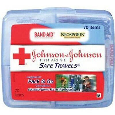IND Johnson & Johnson Safe Travels™ First Aid Kit 70 Pieces