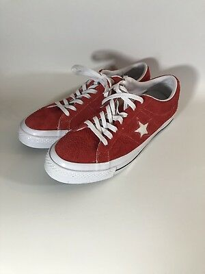 best sneakers 51078 3b0fc Converse Unisex Size 11 ONE STAR PREMIUM SUEDE LOW TOP Shoes RedWhite  158434C c
