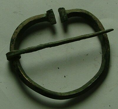 RARE ancient Roman bronze Omega fibula brooch artifact
