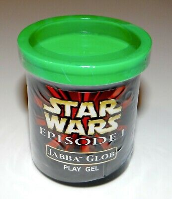 """1998 Star Wars Episode I Jabba Glob Replacement """"Ooze"""" Play Gel Canister"""