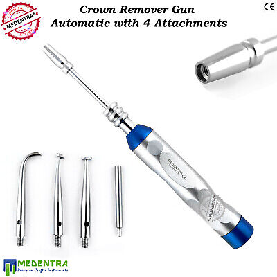 Dental Automatic Crown Removal Gun Pistol Turkish Style with Four Attachments CE