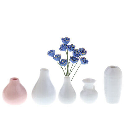 """1:6 scale ~ PORCELAIN  VASE  wIth  LID for 12/"""" Doll ~ Action Figures"""