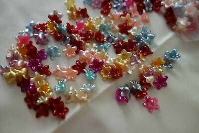 50 Acrylic Flower Bead Caps 13x13mm #A3872 Jewellery Making and Craft