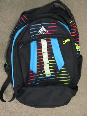 1f17f231b95b NICE Adidas black+blue+yellow+red backpack w  laptop sleeve   load