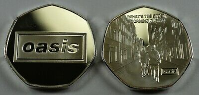 OASIS '(WHAT'S THE STORY) MORNING GLORY..?' Silver Commemorative. Collectors