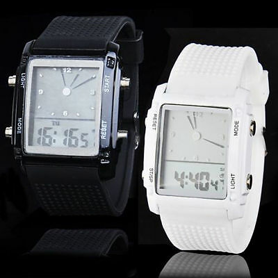 Unisex Womens Mens Fashion Digital Led Chronograph Quartz Sport Wrist Watch SAMZ