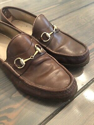 08c79677153 MENS GUCCI BAMBOO Horsebit Driving Moccasin Loafers Size 11  see ...