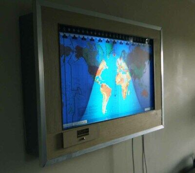 Geochron moving map clock - working but much modified