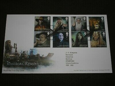 2011 GB MAGICAL REALMS - HARRY POTTER First Day Cover MERLINS BRIDGE Cancels