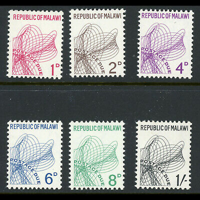 MALAWI 1967 Postage Due Set. SG D6-D11. Mint Never Hinged. (WA326)