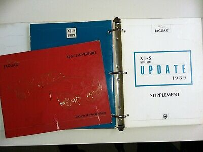 Jaguar XJ-S XJS V12 1988-95 genuine factory technical update booklets