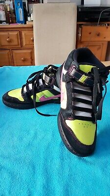 hot sale online 27132 0f6c1 Nike 6.0 Air Mogan Mid WMNS Black Pink Lime Yellow Sports Trainer UK