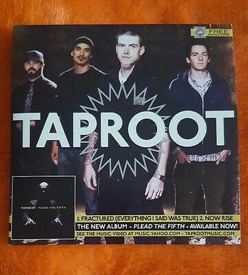 Taproot Plead The Fifth Promo Cd Euc Rare Fractured Now Rise