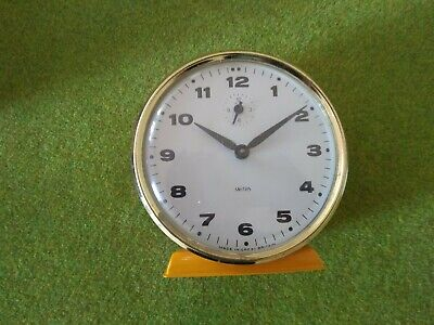Smiths 30 hour alarm clock with box and instructions - vintage