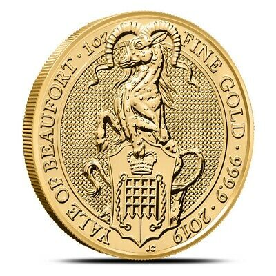 2019 1 oz .9999 British / UK Gold Queen's Beasts Yale Of Beaufort Coin