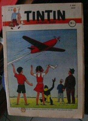 Journal Tintin N°28 - 5 Mai 1949 - Couverture Herge