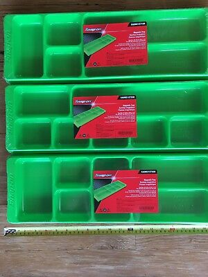 Snap On Green Parts Trays. 3 Magnetic Trays