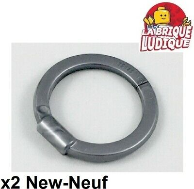 Lego 2x arme weapon anneau cercle Hoop Blade Chakram argent/flat silver 35485