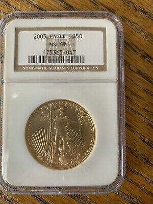 2003 $50 1oz American Gold Eagle  MS69 NGC 175365-047 D2