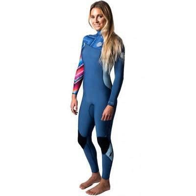 Rip Curl G BOMB 3/2mm ZIP FREE Womens Steamer Wetsuit New Size 12 - WSM6KG Blue