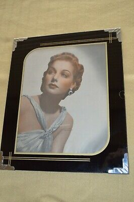 Art Deco Reverse Painted Glass Picture Frame Maria Olszewska Opera Photo 1928-32 Photographs Entertainment Memorabilia