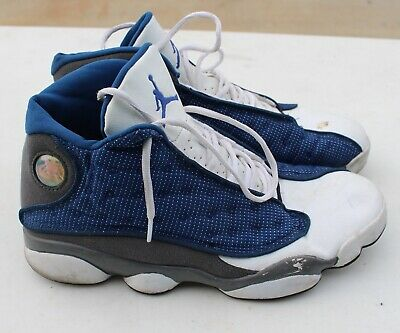 9aa61e6c10d Nike Air Jordan XIII 13 Retro 2015 French Navy Blue Flint Grey White Shoes  11.5