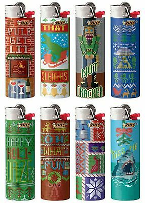 BIC Full Size Special Edition Xmas Holiday Ugly Sweater Lighter PICK ONE New