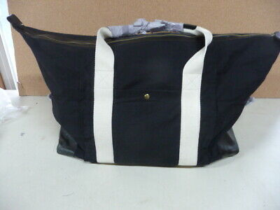 Mark and Graham Black Canvas and Leather Weekender Bag please read desc  Duffle 805596b1f5f25